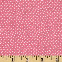 Mini Confetti Dot Coral from @fabricdotcom  From Dear Stella Designs, this polka dot cotton fabric is perfect for quilting, apparel and home decor accents. Colors include white polka dots on a pink coral background.