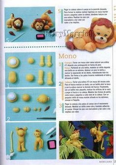 step by step lion Fondant Cake Tutorial, Cupcake Tutorial, Fondant Toppers, Fondant Figures, Polymer Clay Creations, Cake Creations, Lion Cakes, Fab Cakes, Making Fondant