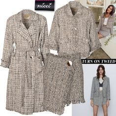 Chanel-inspired tweed jacket