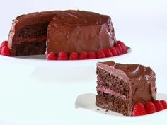 Chocolate-Raspberry Layer Cake from FoodNetwork.com...saw this on FN a month or so ago and have been dying to make it. Perhaps Mother's Day...