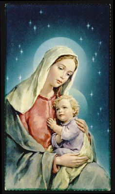 "santino-holy card""""ediz. FB serie STAR n.20 MARIA MADRE DI DIO Blessed Mother Mary, Blessed Virgin Mary, Jesus Faith, Religious Pictures, Sainte Marie, Mary And Jesus, Fantasy Pictures, Holy Mary, Madonna And Child"