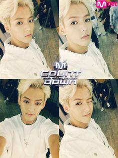 ohh the blond hair..... <3 - Minhyuk