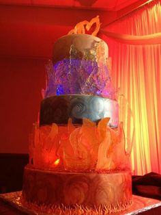 amazing fire and ice cake