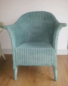 Vintage 50s Lloyd Loom Chair All Done Up A New Coat Of