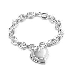 NYKKOLA, eleganter Schmuck 925 Sterling Silber mit Herz-Anhänger