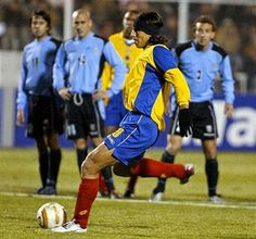 Uruguay 2 Colombia 1 in 2004 in Cuzco. Sergio Herrera makes it 1-1 from the penalty spot after 70 minutes in the 3rd place play-off at Copa America.