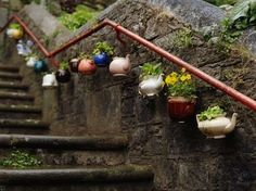 Banana In the City. Really creative use for tea pots. I love this collection.