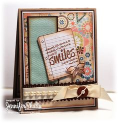 Flutterby Buttons and Bows » deconstructing jen | handmade cards, sketches and tutorials