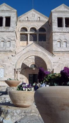 The Franciscan Church of the Transfiguration on Mount Tabor Where Jesus Underwent His Transfiguration www.ffhl.org #Franciscans #HolyLand