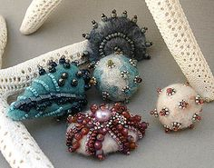 felt beads | Flickr - Photo Sharing! Heather Powers; Humblebeads