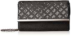 Women's Clutch Handbags - La Regale Mesh Pattern Flap Clutch Black One Size -- Check this awesome product by going to the link at the image. Earmuffs, Mesh, Pattern, Clutch Handbags, Accessories, Amazon, Black, Image Link, Awesome