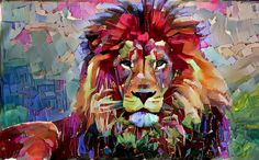 Colorful Lion Painting Art Print by erisian - X-Small Canvas Art, Canvas Prints, Painting Canvas, Lion Painting, Lion Art, Arte Pop, Wildlife Art, Animal Paintings, Cat Art