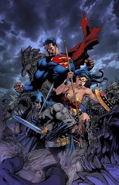 Wonder Woman , Batman et Superman