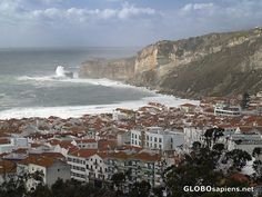Nazare, Portugal.  Described by Rick Steves in his show on Portugal.  Plan to visit.