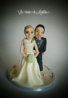 Cake topper wedding  - Cake by Matilde
