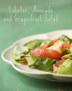 Lobster, Avocado and Grapefruit Salad  - light, healthy, and delicious!  www.sidewalkshoes.com