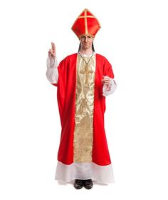 Disfraces de Adultos Religiosos Elegante Disfraz de Obispo Rojo Adulto…