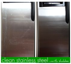 it's easy to clean stainless steal with basic h!