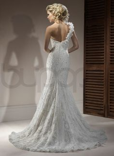 Mermaid Wedding Gowns | ... Sweetheart Neckline Fit and Flare Mermaid Wedding Dress - Bupop.com