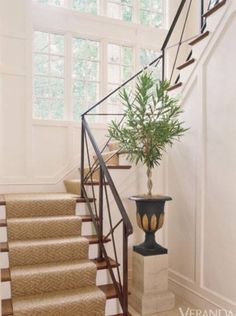 Great traditional style iron stairway .