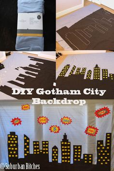 Superhero gotham city. I'll just use black poster paper. It will be so much cheaper and sturdier.