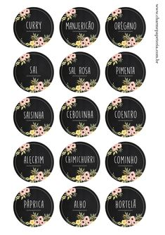 Aqui você encontra kits digitais e impressos, convites e papelaria personalizada para seu chá de bebê, batizado ou festa infantil. Pantry Labels, Jar Labels, Spice Labels, Printable Labels, Printables, Diy Bedroom Decor, Diy Home Decor, Free To Use Images, Personal Organizer
