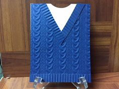 Stamp with Anna:Cable Knit Embossing Folder, Sweater card