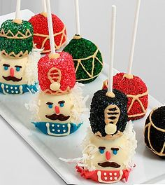 Chocolate Dip Delights™ Belgian Chocolate Holiday Nutcracker Cake Pops- Shown