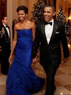 Barak and Michelle Obama.
