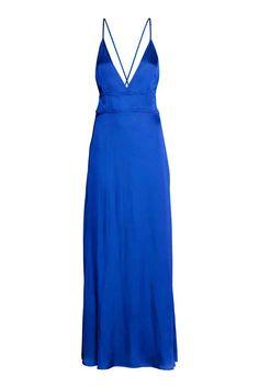 Satin maxi dress - C