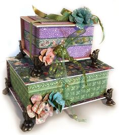Altered Book Boxes : Gallery : A Cherry On Top