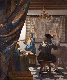 Johannes Vermeer, Alegoria malarstwa, W pracowni artysty albo Sztuka Malarska
