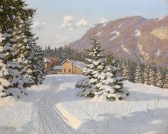 Winter Landscape - Boris Bessonov