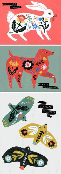 Sarah Walsh 'Folk Science' | illustration | folk-inspired art | folk illustration