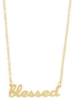 Blessed Script Pendant Necklace on HauteLook