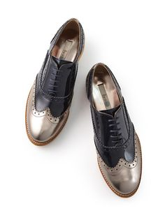 The Lace Up by Boden.  Menswear shoes for women=fave