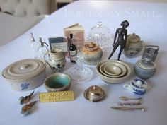 I recently ordered some very beautiful miniatures made by several miniaturists, great artists really.