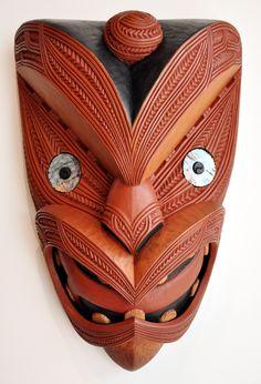 Maori Design – Kura Gallery: Maori and New Zealand Art + Design. Wood Carving Art, Bone Carving, Polynesian Tribal Tattoos, Maori Tattoos, Tiki Tattoo, Cross Tattoo For Men, Tiki Mask, Arte Tribal, New Zealand Art