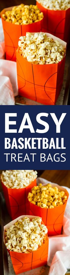 Easy DIY Basketball Treat Bags -- this fun basketball treat bags craft is SO quick and easy to complete! How cute would these be for a basketball-themed party? Or maybe a March Madness game day get together? Basketball Party Favors, Basketball Birthday Parties, Sports Birthday, Sports Party, 9th Birthday, Basketball Decorations, Happy Birthday, Basketball Gifts, Bon Appetit
