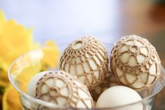 flax & twine: Crochet-Covered Easter Eggs –a DIY tutorial