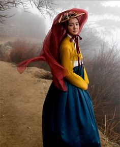 Hanbok, Korean traditional dress - love the bold colors Korean Traditional Dress, Traditional Fashion, Traditional Dresses, Korean Dress, Korean Outfits, Korea Fashion, Asian Fashion, Korean Beauty, Asian Beauty