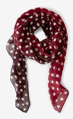 Ralph Lauren Silk Red And White Scarf