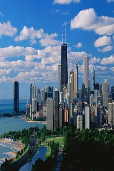 LOVE THIS VIEW!!!!!! Chicago- Lakeshore Drive.  The view I hope to have, once I accomplish a bucket list item of living in Lincoln Park!