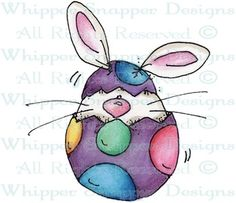 Hatching Bunny - Easter - Holidays - Rubber Stamps - Shop