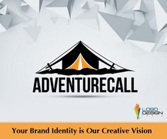 Logo Design India is happy to craft a logo for Adventure Calls with the essence of adventure camps, for which they provide accessories like tents, shoes, etc..