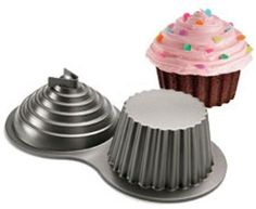 LOVE this giant cupcake cake pan! Kara's Party Ideas Shop | KarasPartyIdeas.com/shop