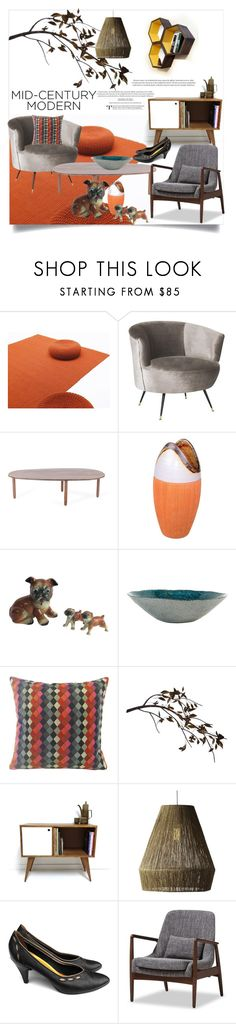 """""""Mid-Century Modern"""" by clotheshawg ❤ liked on Polyvore featuring interior, interiors, interior design, home, home decor, interior decorating, Safavieh, C. Jeré, Selamat and Baxton Studio"""