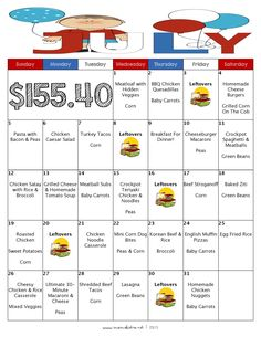 Over the past six months, I have been sharing monthly dinner meal plans with free printable grocery lists for my readers, being sure to keep the budget under $200 for the month, and this month is n...