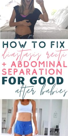You can fix diastasis recti and abdominal separation if you do the RIGHT exercises for diastasis recti consistently! Discover how to lose weight fast. Post Baby Workout, Post Pregnancy Workout, Mommy Workout, Pregnancy Tips, Diastis Recti Exercises, Healing Diastasis Recti, Abdominal Exercises, Health Advice, Get In Shape
