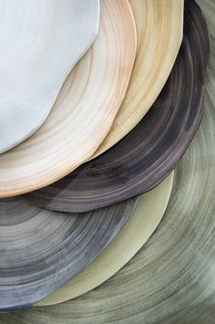 stacked pottery plates